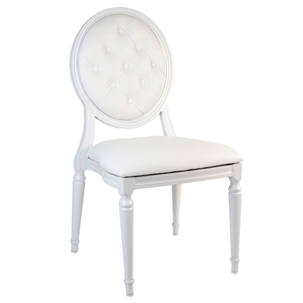 Bienvenue sur le site de souchon r ception - Chaise medaillon blanche ...