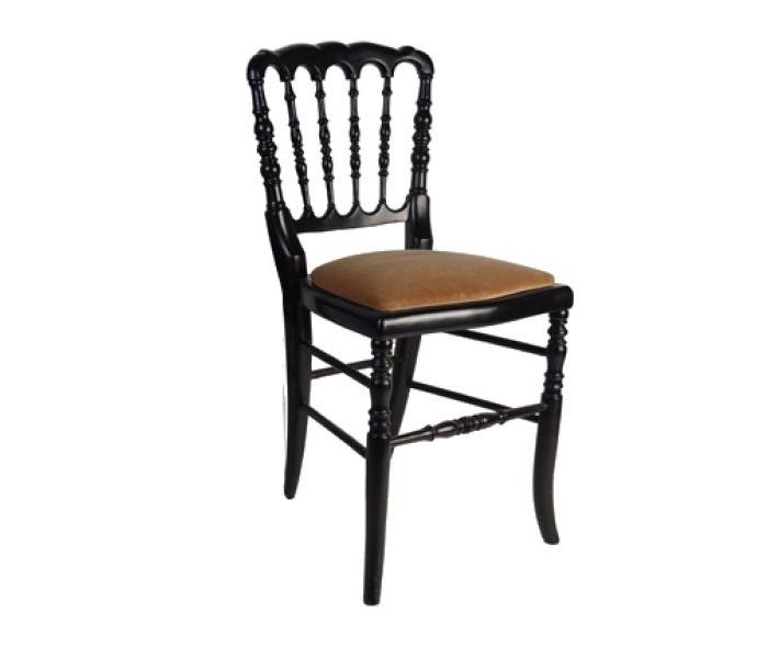 location chaise napol on iii noire par souchon r ception. Black Bedroom Furniture Sets. Home Design Ideas