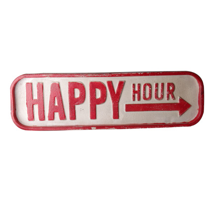 Plaque Happy Hour
