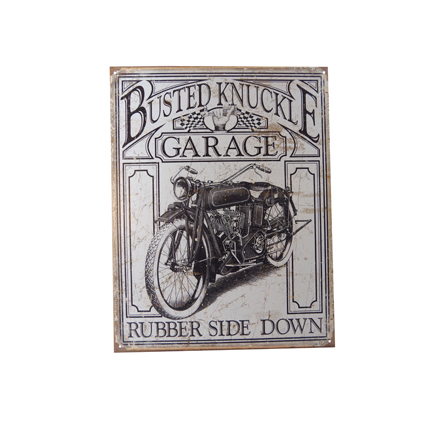 Plaque moto garage